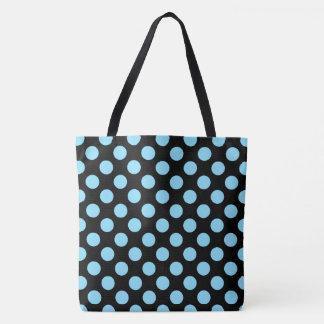 Baby Blue Polka Dots Tote Bag