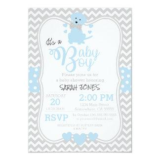 Baby Blue Puppy Baby Shower Invitation