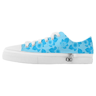 Baby Blue Roses Printed Shoes