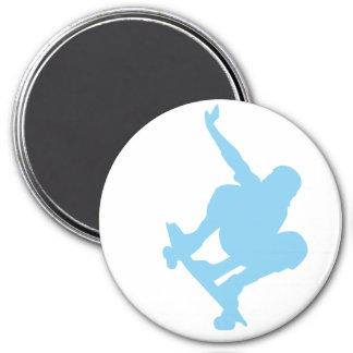 Baby Blue Skater Refrigerator Magnet