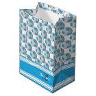 Baby Blue Soccer Balls Medium Gift Bag