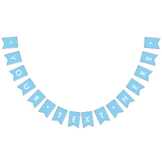 Baby Blue Solid Color Bunting