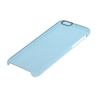 Baby Blue Solid Colour Clear iPhone 6/6S Case