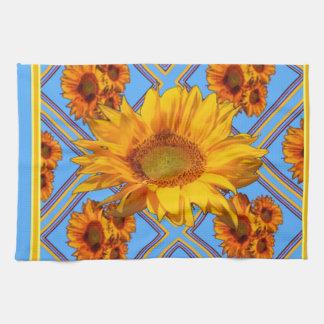 Baby Blue Sunflower Design Kitchen Towel
