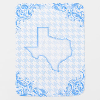 Baby Blue Texas Baby Blanket