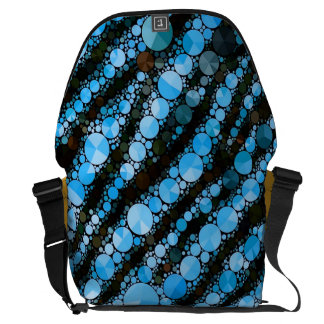 Baby Blue Tiger Bling Commuter Bags