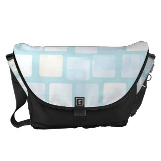 Baby Blue Tiled Block Mosaic Pattern Commuter Bag