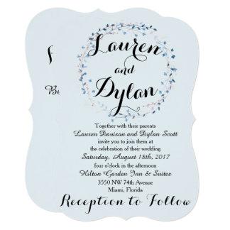Baby Blue Wedding Invitation
