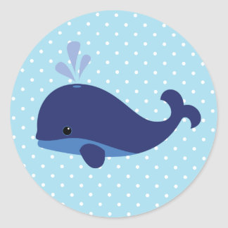 Baby Blue Whale Sticker