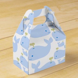 Baby Blue Whales Infant Gift Shower Wedding Favour Box
