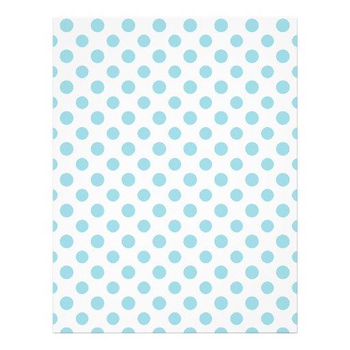 Baby Blue White Polka Dots Pattern Flyer