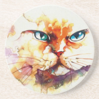 """Baby Blues"" Cat Print Coasters"