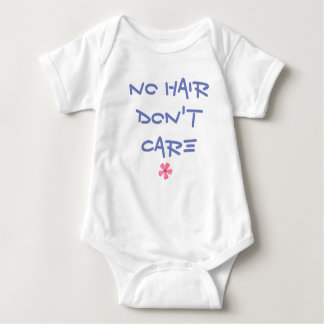 Baby Body Suit - No Hair Don't Care Baby Bodysuit