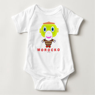 Baby Bodysuit    Cute Monkey Morocko