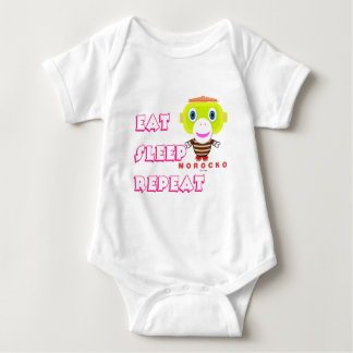 Baby Bodysuit    Eat Sleep Repeat By Morocko