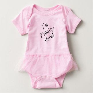 Baby Bodysuit, I'm Finally Here Baby Bodysuit