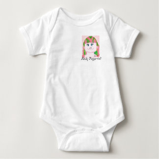 Baby Bodysuit Mindy Peppermint little girl puppet