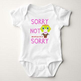 Baby Bodysuit    Sorry Not Sorry By Morocko