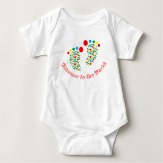 Baby bodysuit, spotty, colourful, gender neutral baby bodysuit