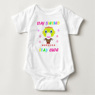 Baby Bodysuit    Stay Blessed Stay Cute By Morocko