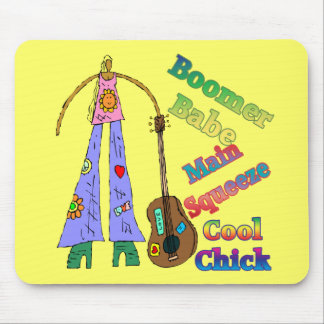 Baby Boomer Babe T-shirts Gifts Mouse Pad