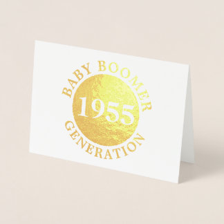 Baby Boomer Generation Customize Year Foil Card