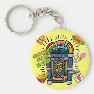 Baby Boomer Jukebox Basic Round Button Key Ring