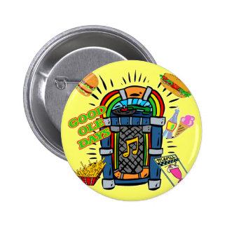 Baby Boomer Jukebox Pinback Buttons