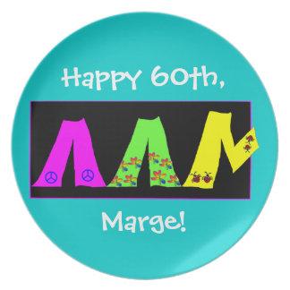 Baby Boomer Milestone Birthday plate
