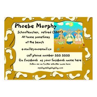 Baby Boomer Retirement Card - beach scene Business Card Template