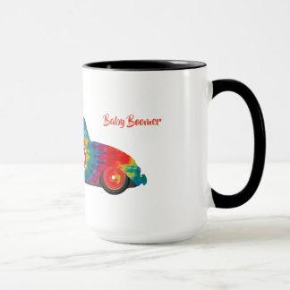 baby boomer tie dye bug mug
