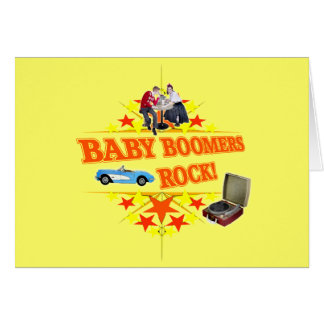 Baby Boomers Rock Greeting Card