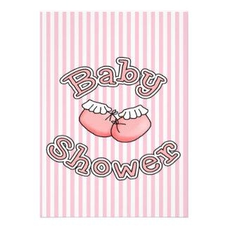 Baby Bootie  Girl Shower  Invitation