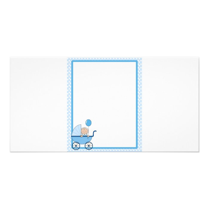 Baby Border Boy Personalized Photo Card