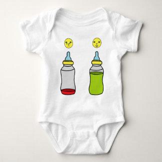 baby bottle baby bodysuit