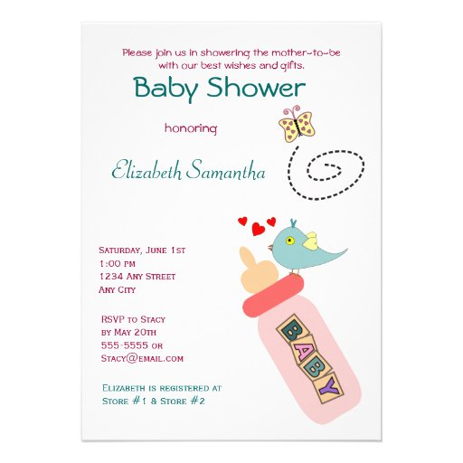 Pre Printed Baby Shower Invitations for beautiful invitation example