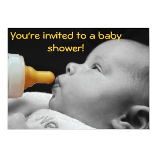 Baby Bottle: You're invited to a baby shower! Card