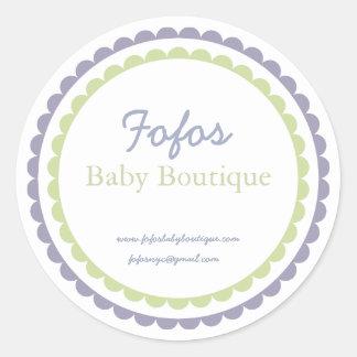 Baby Boutique Fashion Label/Sticker Round Sticker