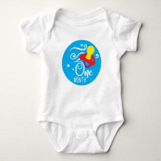 Baby Boy 1 Month Milestone Vest Baby Bodysuit