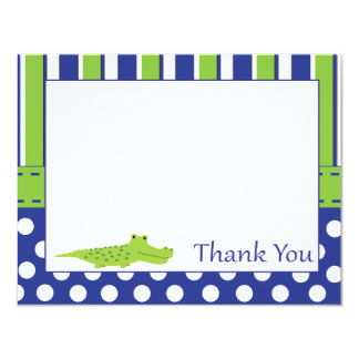 Baby Boy Alligator Thank You Card 11 Cm X 14 Cm Invitation Card