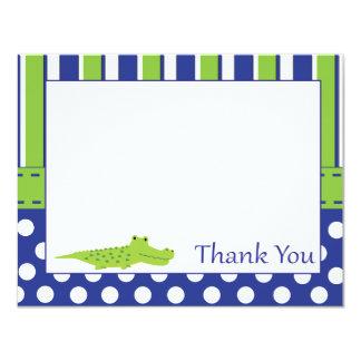 Baby Boy Alligator Thank You Card 11 Cm X 14 Cm Invitation Card