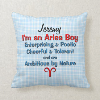 Baby Boy Aries Zodiac Personalized Pillow Cushions