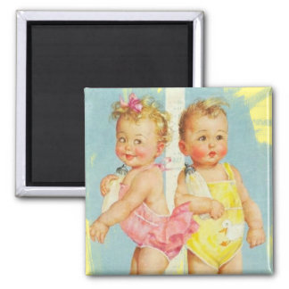 Baby Boy / Baby Girl Square Magnet
