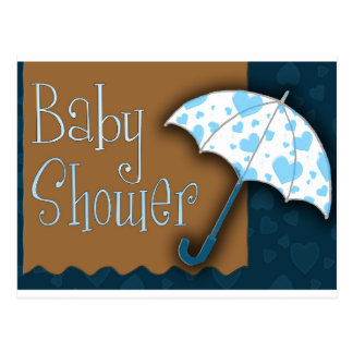 Baby boy baby shower post cards