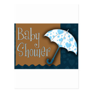 Baby boy baby shower postcard