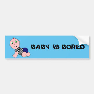 Baby Boy Bald Bumper Sticker