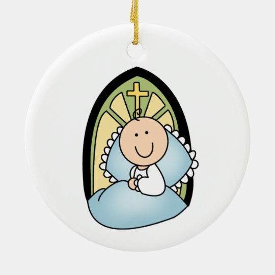 Baby Boy Baptism Ornament