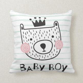 Baby boy bear cushion
