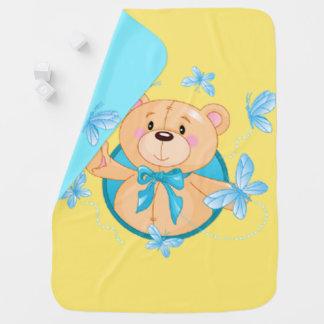 Baby Boy Bear Pramblanket