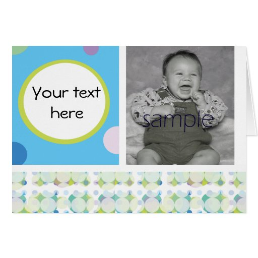 baby boy birth announcements greeting card